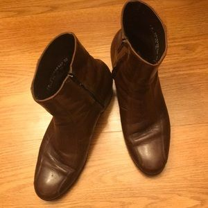 FLORSHEIM MENS BROWN LEATHER BOOTS SIZE 8